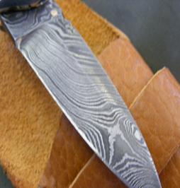 hunting knife damascus 16