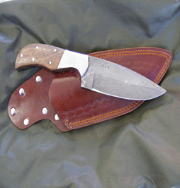 hunting knife damascus 7