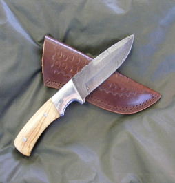 hunting knife damascus 11