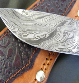 huting knife damascus 13