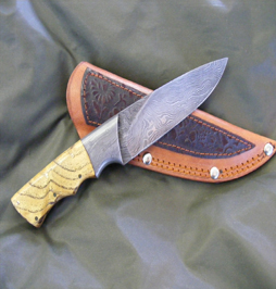 hunting knife damascus 15