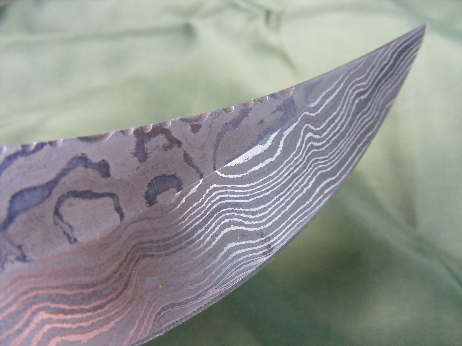 hunting knife damascus 2
