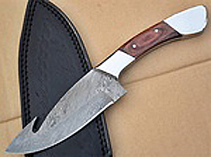 hunting knife damascus 3