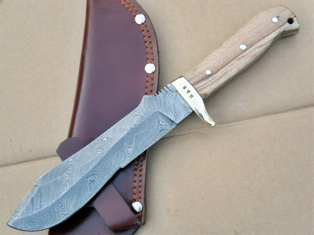 hunting knife damascus 18